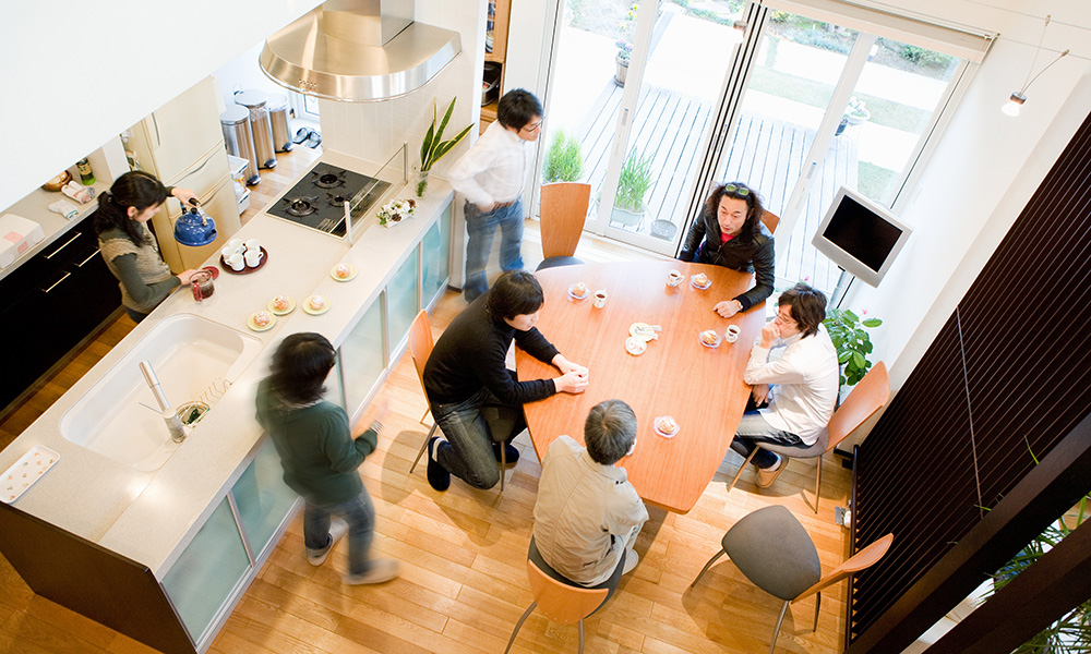 趣味と共に暮らす家、人の集まる家。